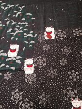 """CATS IN WINTER """"FUROSHIKI""""(Japanese Traditional Cloth Wrap). 117CM X 117CM"""