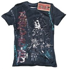 Amplified SAINT&SINNER SAMURAI Skull Rock Star Strass Tattoo T-Shirt g.L/XL 54