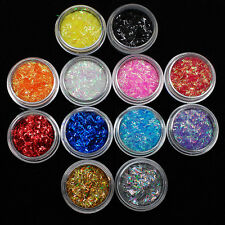 12 Colors/set Nail Art Sequins Shining Metallic Glitter DIY Manicure Decoration