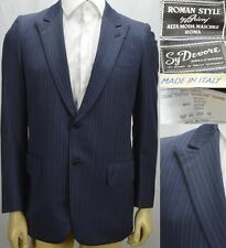 Brioni Blazer Sport Coat Size 38 R Peak Lapel Blue Striped