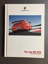 """2008 Porsche 911 GT3 """"From the inner sanctum"""" Hardbound Sales Brochure RARE"""