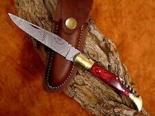 Coltellino Damasco, Damascus Folding Knife, mesing puro