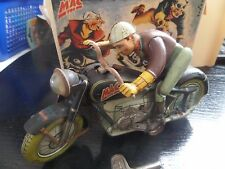 RARE Vintage Arnold Mac 700 Tin Windup Motorcycle Made in U.S.Zone Germany 40's