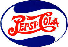 PEPSI COLA OVAL DESIGN  VINYL DECAL STICKER (A3136) 12 INCH