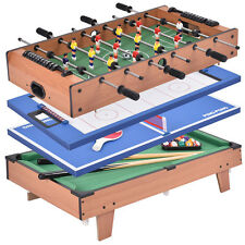 4 In 1 Multi Game Air Hockey Tennis Football Pool Table Billiard Foosball Gift