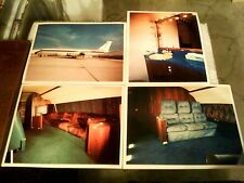 """LOT OF 8 diff ELVIS PRESLEY AIRPLANE """"LISA MARIE"""" 8x10 COLOR PHOTOS TCB plane"""
