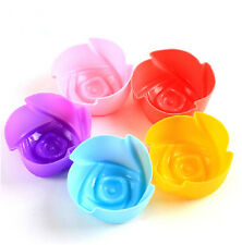 Tools Jelly Chocolate Cup Cake Mold Cookie Rose Flower Silicone Baking Mould