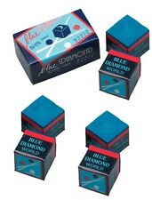 6 Pieces Of Blue Diamond Pool Chalk - Longoni Premium Quality Billiard Chalk