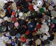 Lot of 1026 Vintage Sewing Buttons ~ Crafts Variety of Plastic, Metal, Material