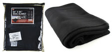 "Black Wool Survival Blanket Emergency Camping Military NEW 64"" x 84"" 80% Wool"
