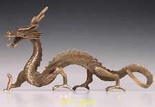 Oriental Vintage Bronze Statue Chinese Dragon Lifelike Collection Old Hand House