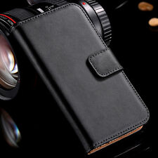 High Quality Real Genuine Leather Flip Wallet Phone Case For LG Google Nexus 4