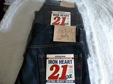 NEW Mens IRON HEART JEANS IH 634 MADE IN JAPAN 32 x 34 REG Straight 21 OZ DENIM