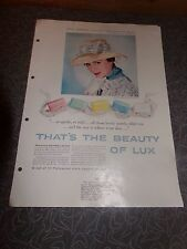 Vintage 1950's Erin O'Brien Lux Soap Promo Ad Girl On The Run Movie