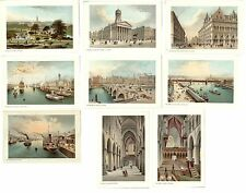 Stampe antiche LOTTO di 9 VEDUTE GLASGOW 9 VIEWS Scotland 1894 Antique prints