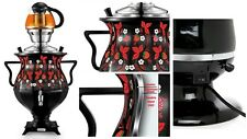 Modern Russian Samovar KHOKHLOMA FLOWERS Design Electric Samovar Kettle Set of 2