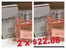Lot 2 Bottles Paris Mademoiselle 3.4 oz EAU DE Parfum Impression OF CoCo CHANEL