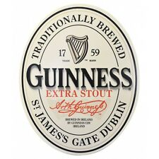 Guinness Oval Label 3D Wood Bar Pub Sign - New