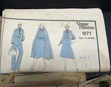 Vogue 1271 Sewing Pattern Dress Blouse Pant Suit Skirt Sz 12 Envelope Missing