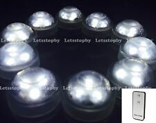 10 pc LED WHITE Submersible w/ Remote Vase Floral Wedding Party Decoration Light