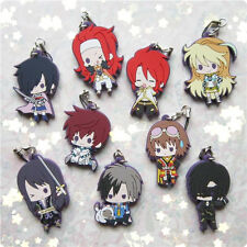Tales of Series Abyss Xillia Destiny Rubber Strap Keychain Charm One Set 9pcs