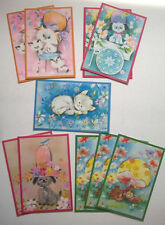 1960's? Bright 'n Breezy  Box of 10 cats dogs greeting cards  unused vintage