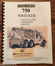 77 Ernest Holmes 750 Wrecker Service Manual tow truck heavy duty Towing & recove