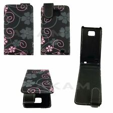 PU Leather Magnetic Top Floral Flip Case Cover Pouch For Samsung Galaxy S2 i9100