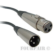 4 Pack Lot - 3-Pin XLR Extension Microphone Mic Cable Male Female M/F - 50' 50ft