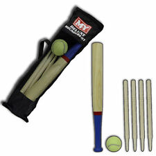ROUNDERS SET OUTDOOR BAT BALL POST CARRY BAG WOODEN GAMES CHILDREN SPORTS PLAY