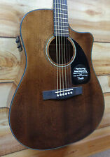 New Fender® CD60CE All Mahogany Acoustic Electric Guitar w/Case