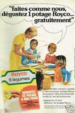 Publicité advertising 1978 Les Potages Soupes Royco