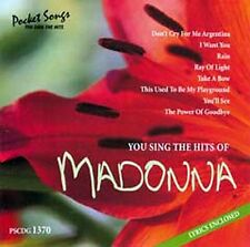"""CD NEUF """"YOU SING THE HITS OF MADONNA"""" karaoke / 8 titres"""