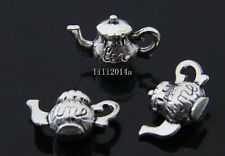 10pc Retro Tibetan Silver teapot Charm Beads Pendant accessories wholesale PL341