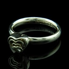 Spinning Jewelry Max Sterling Silver Ring w Zircon 714 - 05 Blooming Heart