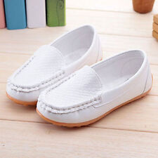 Boys Girls PU Leather children Boat shoes solid color casual Loafers Moccasins