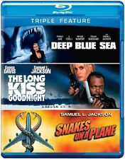 Deep Blue Sea/The Long Kiss Goodnight/Sn (2012, REGION A Blu-ray New) BLU-RAY/WS