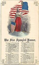 1814 The Star Spangled Banner Frances Scott Key Vintage Song Sheet Music Poster