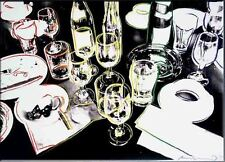 """ANDY WARHOL After the Party 1979 Pop Art HUGE OIL PAINTING ON CANVAS 24x36"""""""