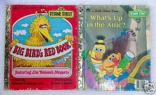 Little Golden Books SESAME STREET Big Bird and Bert & Ernie - Lot of 2 Books