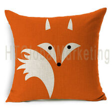Abstract Fox Design Home Decor Soft Linen Cushion Cover Square Throw Pillow Case