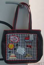 NUOVO Originale RARO Lulu Guinness Fiona Picnic Nero Laptop, iPad, Tablet Tote Bag.