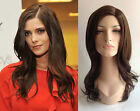 DELUXE ASHLEY GREENE LONG CHOCOLATE BROWN WAVY HIGH FASHION CELEBRITY WIG