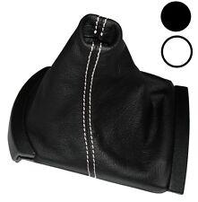 Soufflet de levier vitesse noir CUIR coutures blanches pour Seat Ibiza 2002-2008