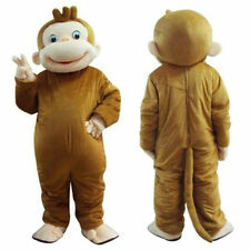George Monkey Mascot Costume Fancy Dress Clothing Festive Party Adult Christmas