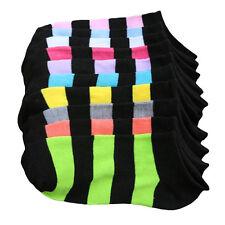 Donna Calze 10 Paia Cute A Righe Alla Caviglia Girocollo Flessibile Casual