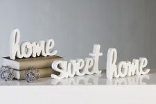 """Casablanca Schriftzug """"HOME SWEET HOME"""" weiß Wand Deko 21x12x2 cm"""