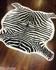 Zebra ocultar Alfombra Alfombra de piel sintética * off-white/brown * 120x140cm tan suave por Ikea