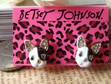 NEW Charm Betsey Johnson Beautiful Crystal lovely Dog Alloy BJ Earrings BJEA010