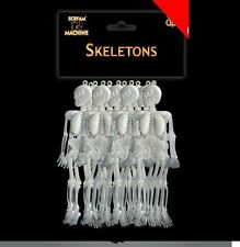 12pk Halloween Skeleton GARLAND Mini Hang Spooky Party Props Table Decoraction